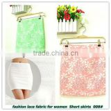 fashion lace fabric for women short skirts