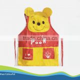 nice cartoon shape apron kids apron 100% polyester apron for children apron