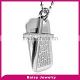 Factory Direct custom design Stainless Steel lord's prayer serenity prayer pendant jewelry