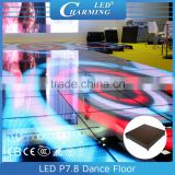 High quality P7.8 star light dance floor, led display floor lighting