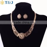 5 Piece Women Jewelry Set 18K Gold Plated Fashion bridal Necklace Earring loin African Costume Woman engagement Accessories
