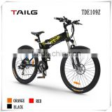 "26"" Tailg aluminum frame lithium bicycle electric mountain bike with disk brake"