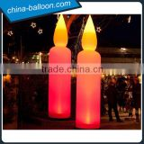 inflatable lighting candle / attractive candle shape inflatable cone for outdoor decoration