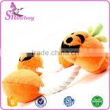 Orange Pumpkin Pet Toy Squeaky Dog Products Plush Molar Toys Training Chew Toy                                                                         Quality Choice