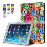 Welcome OEM design stand function factory color printing leather cover for iPad pro 12.9inch