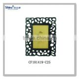 polyresin craft dual hollow design black and white picture photo frame for home decorate china supplier