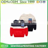 Guangzhou Garment 100% Polyester Color Combination Kids Pullover Hoodies without Hood OEM