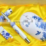 Three-piece ceramic items display, ceramic usb key, ceramic pen usb, Mouse, Free gift box