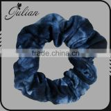Blue Bandana Hair Scrunchie Scrunchies By Sherry Cotton Fabric Ponytail Holder FHHTA0003