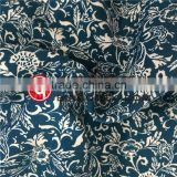 100%Rayon Small Flower Border Print Fabric for Women's Garments