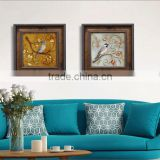 Abstract oil painting on canvas bird,handpainted modern wall art abstract canvas oil painting