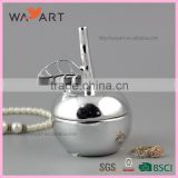 BSCI unique Silver Plated Ceramic Jewelry Box for Gift