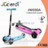 PATENT PRODUCT new folding 4 wheel kids kick scooter wheeler scooter