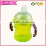 fashional design 240ml children water bottle baby plastic bottle for kids training drink