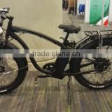 26*4.0 inch fat tire beach cruise style e bike with 48V500W brushless and 48V 12ah lihtium battery under saddle (HJ-CRFM)