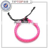 High Quality Fashion Jewelry Crystal Peace and Horse Hair Real Cowhide Leather Bracelets For Gift Men or Women Jewelry