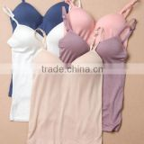 Fashion wholesale camisole no rims lady nylon lace, Camisole Built In Bra, bulk women camisole tops