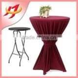 wholesale cheap custom Spandex white Cocktail Or Bar Table Covers with special designs manufacturer