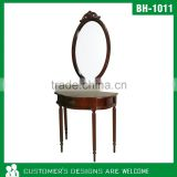 Hallway Console Table With Mirror, Classical Console Table With Mirror