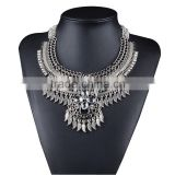Vintage Crystal Bohemian Style Leaves Necklaces Pendants Fashion Bead Bib Statement Collar Necklace for Women Jewelry