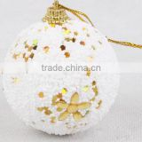 2016 customized wholesale clear glass christmas ball ornaments