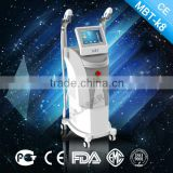 China hotting selling SHR ipl hair removal machine for Skin Rejuvenation Semiconductor Laser Cooling + Air Cooling system