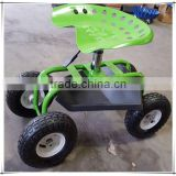 Gas Lift Rolling Garden Caddy Tractor Style Work Seat On Wheels TC4501B