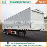 Best selling 3 axles top-closed type strong box van truck trailers semi cargo trailers for sale
