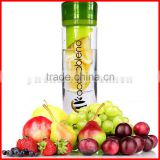 800ml Twist Top Fruit Infuser Water Bottle. Create Your Own Naturally Flavored Fruit Infused Water Juice Iced Tea & Sparkling Be