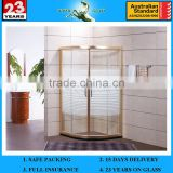 3-19mm EN and AS/NZS2208:1996 10mm Glass Flat Shower Door