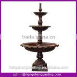3 tier garden cast iron water fountains