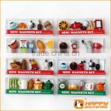 2014 new promotional products novelty items miniature food series 3D coffee maker fridge magnet set