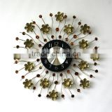 home decor large iron wall clock