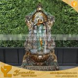 Brass Angel Wall Waterfall Fountains With Lion Head GBF-W008AS