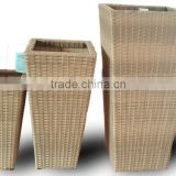 Wicker Planter pots, Plastic Rattan Wicker Pots, Viet Nam plastic Wicker Planter, Handicraft Wicker Planter