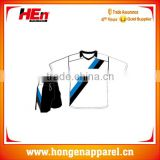 Hongen apparel wholesale honey mate classic white short sleeve soccer training set OEM customized design