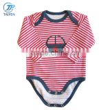 2017 Spring Baby Bodysuit Stripe Newborn Baby Clothes Embroidery Pattern Toddler Unisex Romper