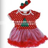 Soft feeling infants&toddlers christmas tree red tutu dress Merry Christmas Posh Baby dress