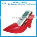 high heel design toy promotional pu cell phone holder