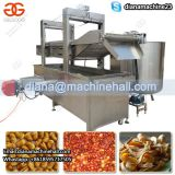 Continuous Peanut Potato Chips Pork Rinds Deep Fryer Machine Plantain Chips Frying Machine