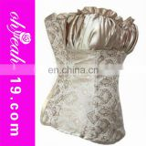 Steel bone full bust luxury pearl color corset fashion new corset