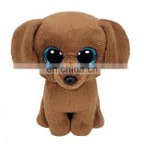 Made in China TY branded furry big eyed dog china factory plush toys
