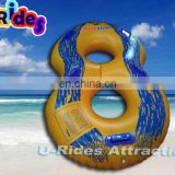 "48"" URIDES Double Inflatable swimming waterpark tube for water park slide"