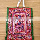 Kutchi mirror work Theli Bag-Indian Mirror Embroidered Tote Bag-Vintage Mirror work Handmade Theli Bag