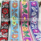 Jacquard webbing fabric woven ribbon ethnic ribbon