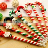 Christ Santa claus candy cane gift ball pen