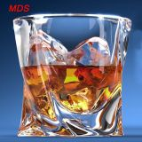 Glassware 300ml lead-free twist whiskey glass scotch glass for liquor