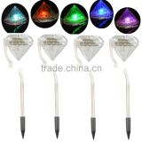 Solar Diamond Lights LED Stainless Steel Garden Lawn Path Lamps