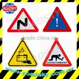 Reflective Triangle Red Aluminum Road Signs And Meanings