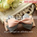 Fancy Plaid lace ribbon bow hair accessories hairpin table legs MY-IA0008